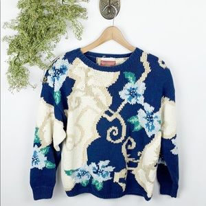 Vintage Jennifer Reed Chunky Knit Sweater 🌿